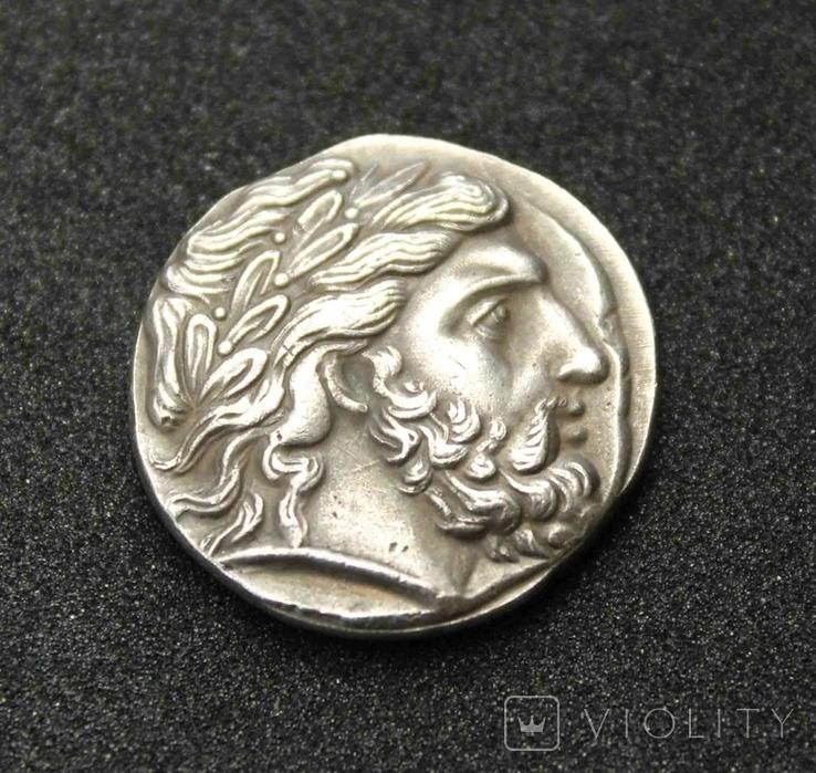 Тетрадрахма Филиппа II Македонского (копия), фото №2