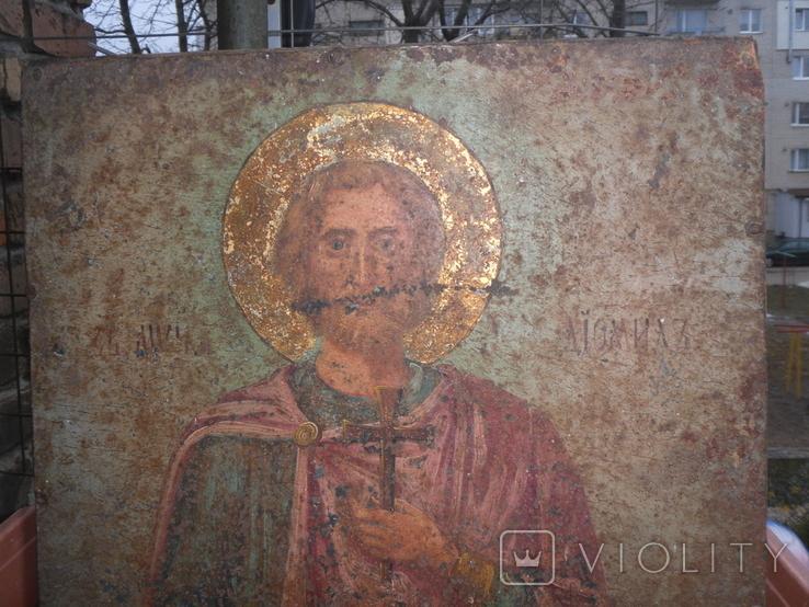 Икона на металле Святой мученик Диомид, фото №10