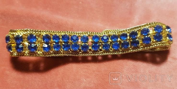 Браслет с синими кристаллами. Германия, фото №4