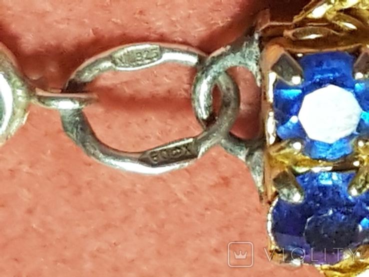 Браслет с синими кристаллами. Германия, фото №6
