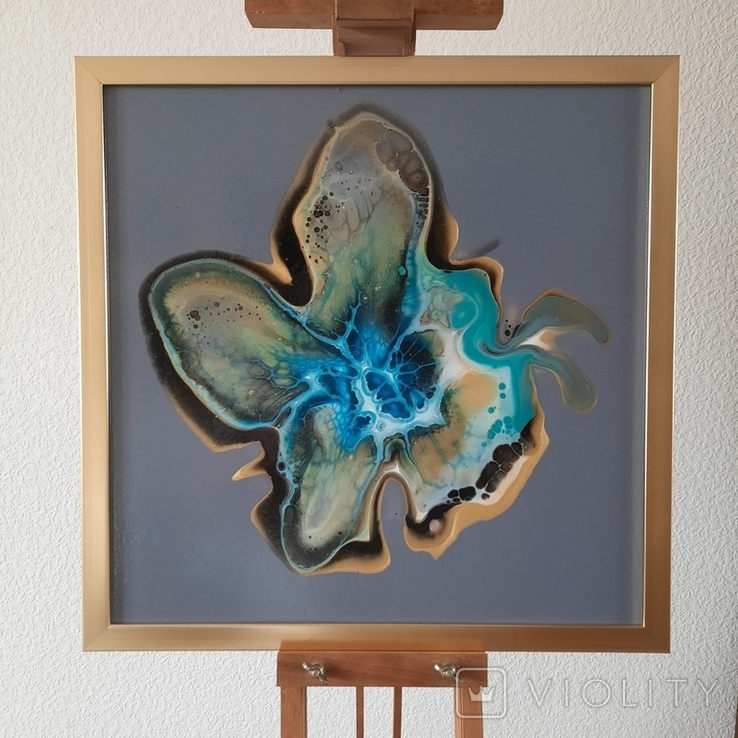 Картина живопис абстракція Fluid Art #32 acrylic, фото №3
