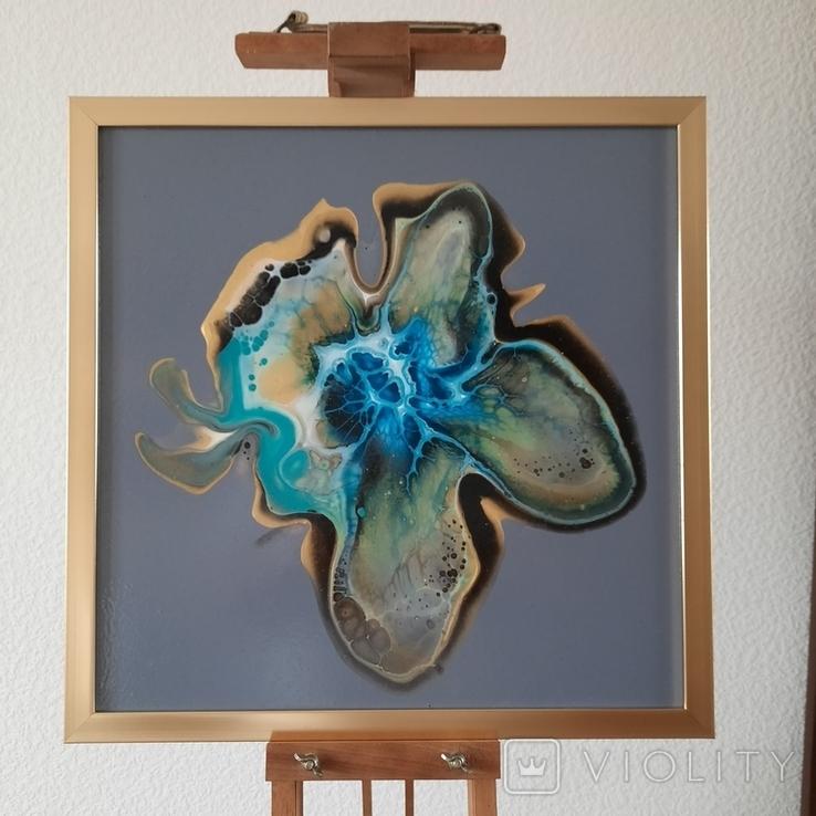 Картина живопис абстракція Fluid Art #32 acrylic, фото №5