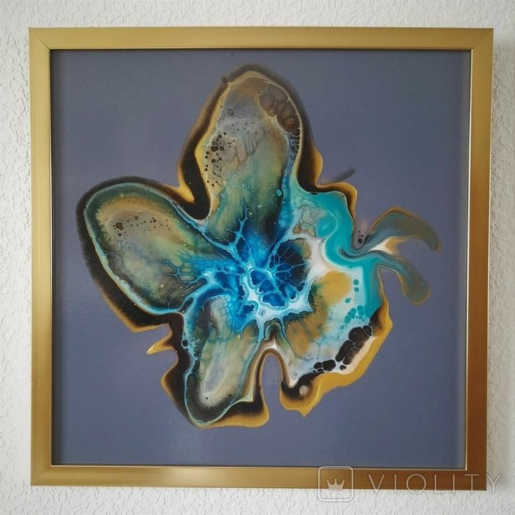 Картина живопис абстракція Fluid Art #32 acrylic, фото №7