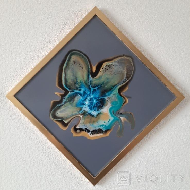 Картина живопис абстракція Fluid Art #32 acrylic, фото №2