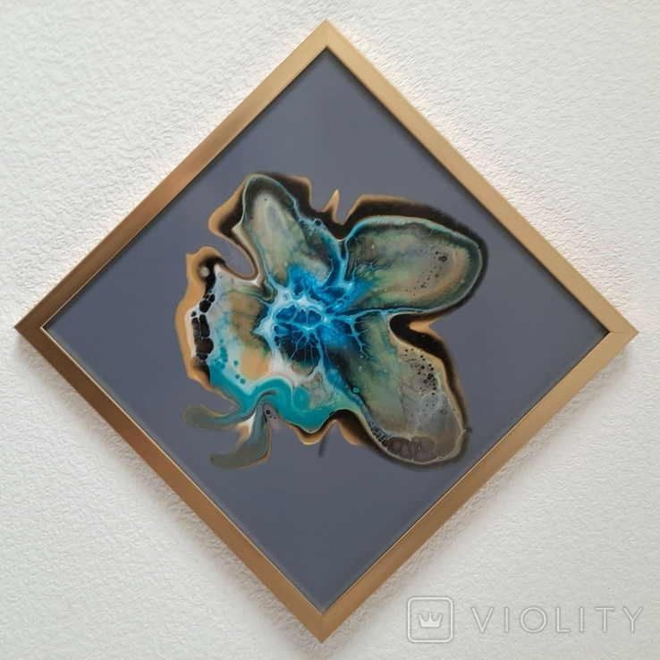 Картина живопис абстракція Fluid Art #32 acrylic, фото №9