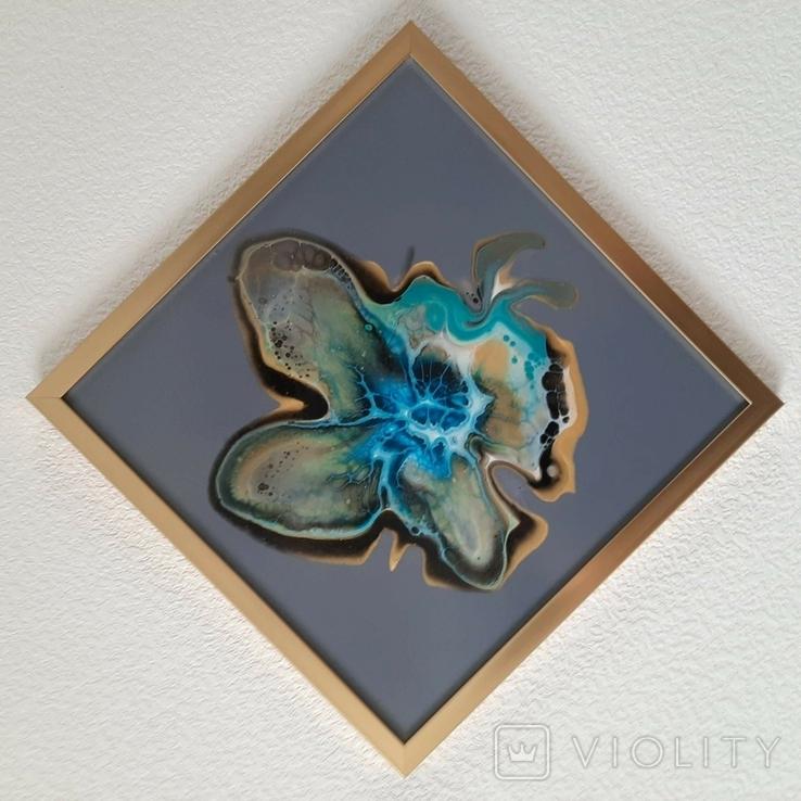 Картина живопис абстракція Fluid Art #32 acrylic, фото №11