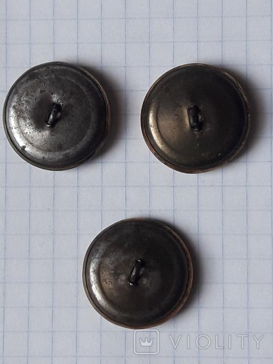 Пуговицы СА в позолоте 22 мм, нечастые, без года, фото №9