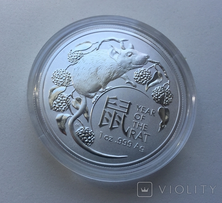 1-я в серии Год Крысы Лунар 2020 от Royal Australian Mint, фото №3