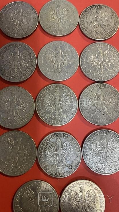 Ядвига Серебро10-5-2.Злотых.55Монет., фото №5