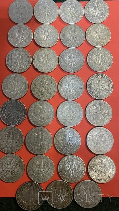 Ядвига Серебро10-5-2.Злотых.55Монет., фото №6