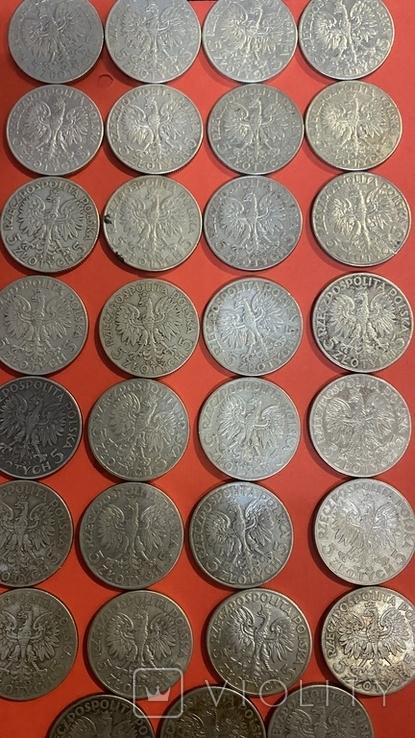 Ядвига Серебро10-5-2.Злотых.55Монет., фото №7