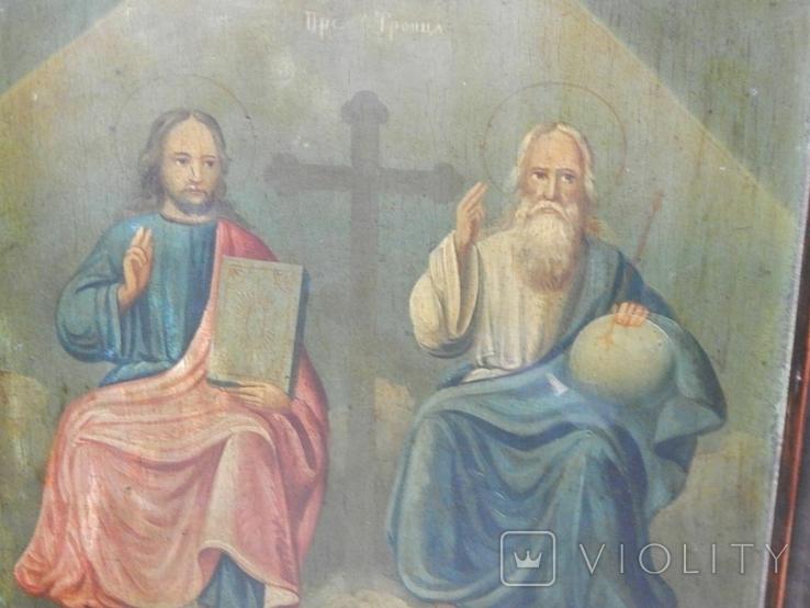 Икона в раме Святая Троица (XIX) век, фото №2
