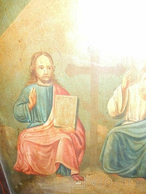 Икона в раме Святая Троица (XIX) век, фото №3