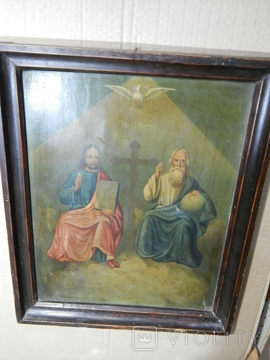 Икона в раме Святая Троица (XIX) век, фото №5