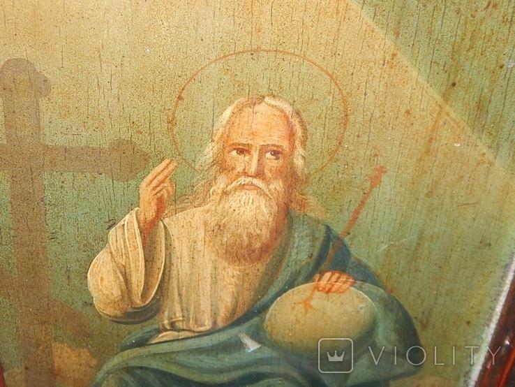 Икона в раме Святая Троица (XIX) век, фото №6