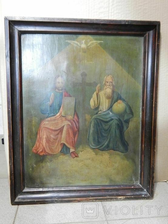 Икона в раме Святая Троица (XIX) век, фото №7