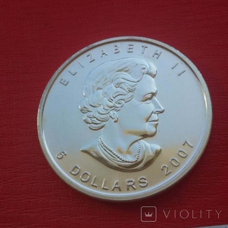 5 $ 2007 Канада унция 999,9 пробы, фото №3