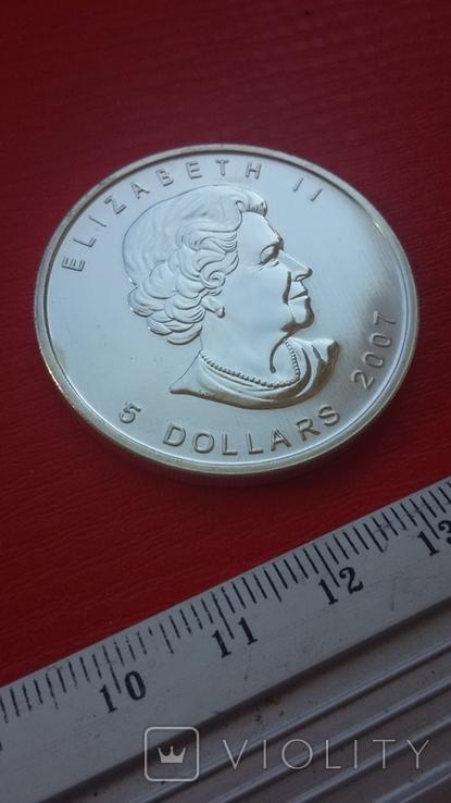 5 $ 2007 Канада унция 999,9 пробы, фото №4