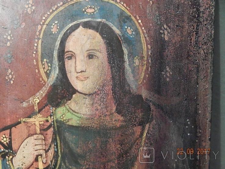 Икона Святой великомученицы Варвары (XIX) век, фото №4