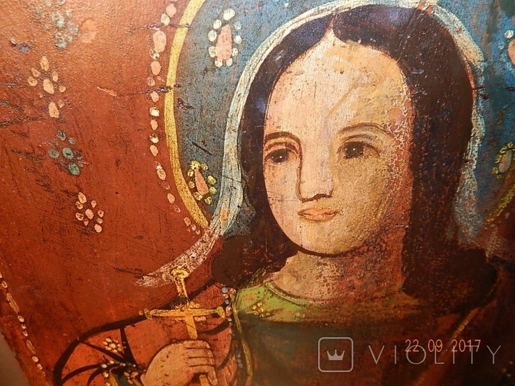 Икона Святой великомученицы Варвары (XIX) век, фото №5