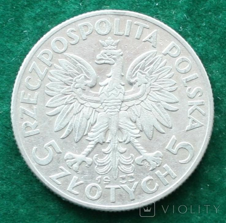 Польша 5 злотых 1933 г., фото №3