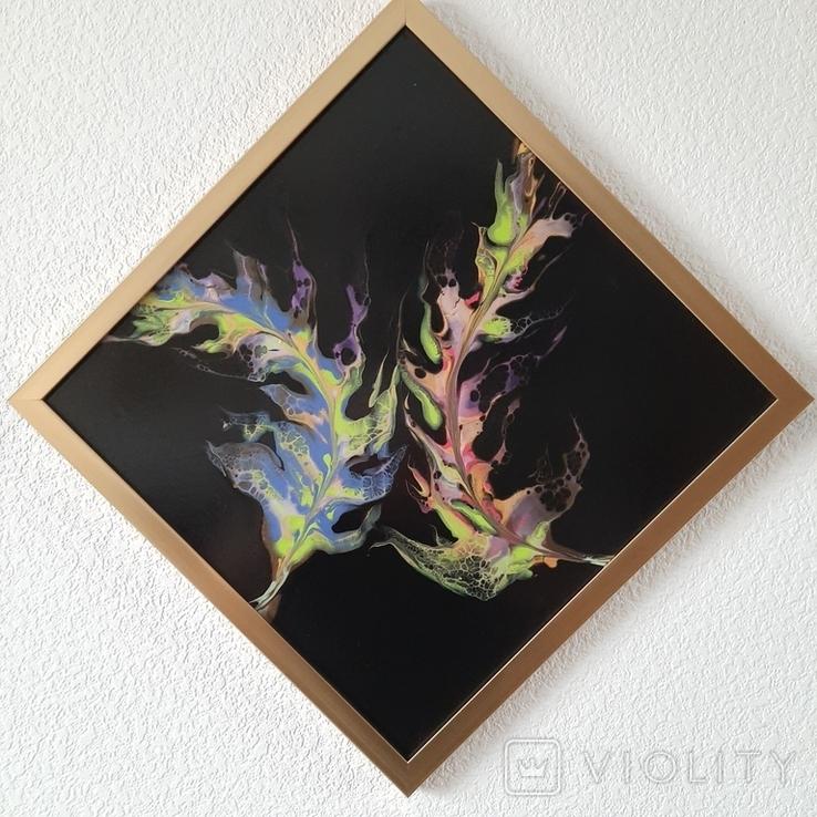 Картина живопис абстракція Fluid Art #35 acrylic, фото №6