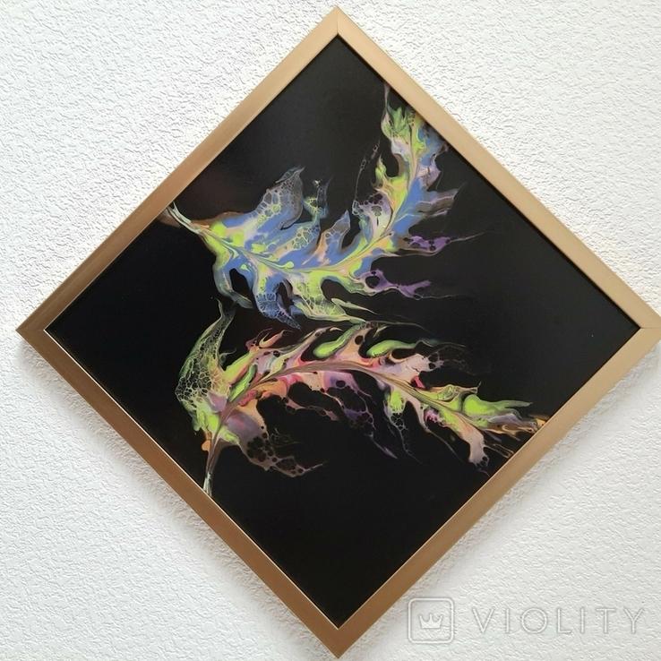 Картина живопис абстракція Fluid Art #35 acrylic, фото №7