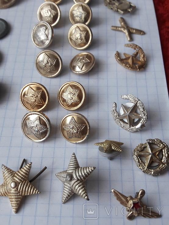 Пуговицы к амуниции разных периодов, звёздочки, более 40 шт, фото №5