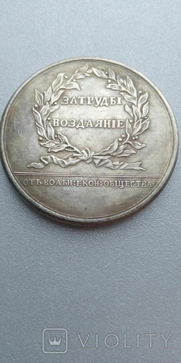 Медаль За труды Воздаяние Екатерина 2 копия, фото №3