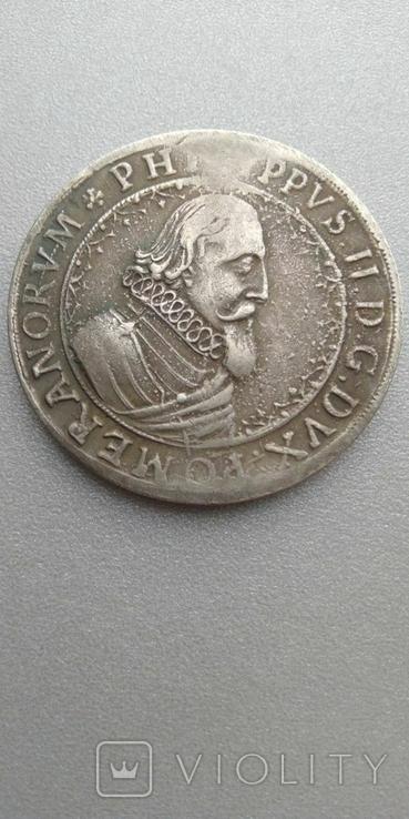 Талер 1617 года Нидерланды, копия брак, фото №2