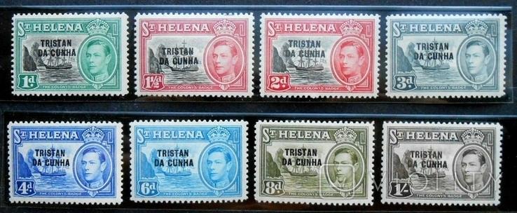 1952 г. Колонии Остров Святой Елены TRISTAN DA CUNHA (**) 8 марок, фото №2