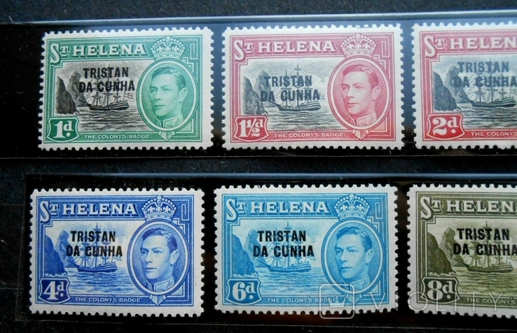 1952 г. Колонии Остров Святой Елены TRISTAN DA CUNHA (**) 8 марок, фото №3