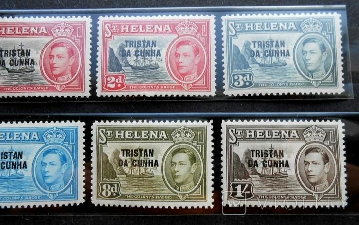 1952 г. Колонии Остров Святой Елены TRISTAN DA CUNHA (**) 8 марок, фото №4