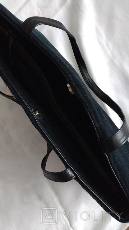 Сумка бархатная с вышивкой, фото №6