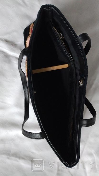 Сумка бархатная с вышивкой, фото №9
