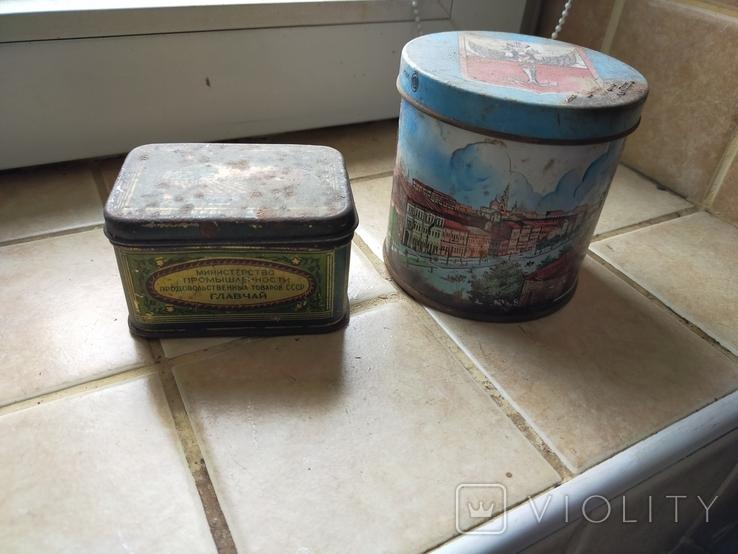 Жестяные коробки от чая. Грузинский чай и Одесса., фото №2