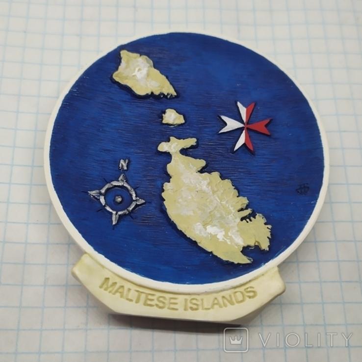 Магнит Остров Мальта. Диаметр 65мм, фото №2
