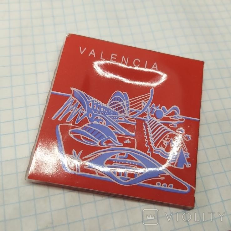 Магнит Испания, Валенсия. Стекло. 57х57мм, фото №2