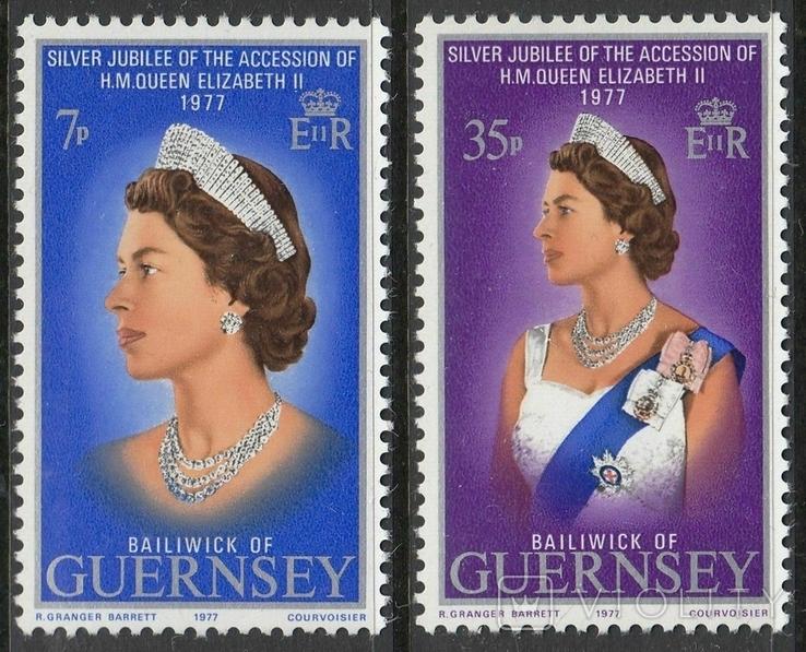 Гернси 1977 юбилей королевы