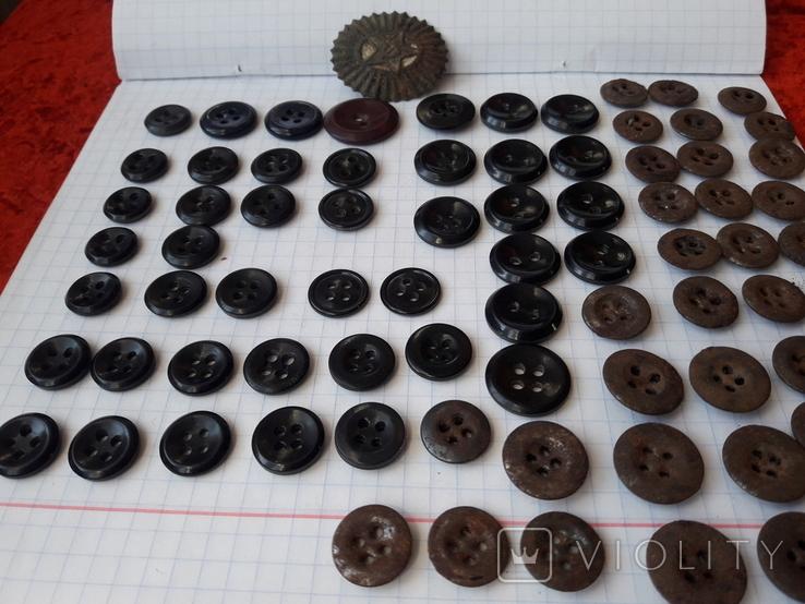 Пуговицы для амуниции разных периодов, 80 шт, фото №2