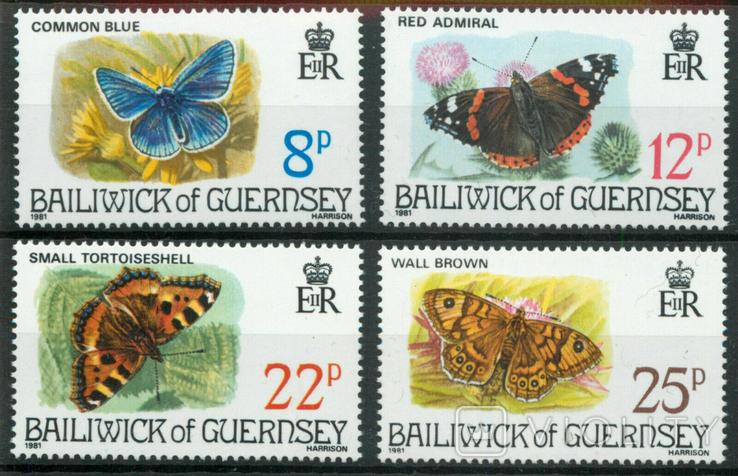 Гернси 1981 бабочки