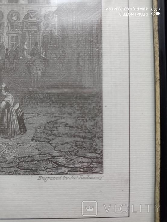 Старинная гравюра Мост Санта-Тринита Дж.Редеуей, фото №9
