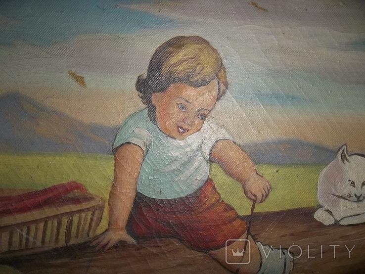 Мальчик играет с котятами., фото №4