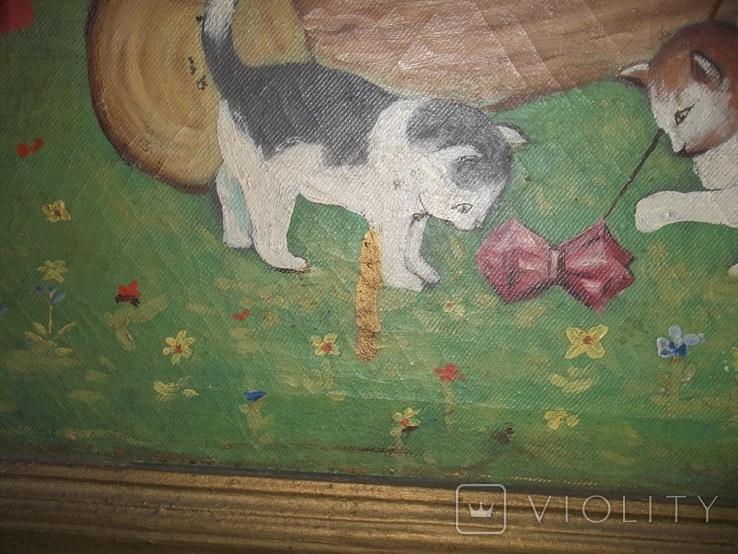 Мальчик играет с котятами., фото №6