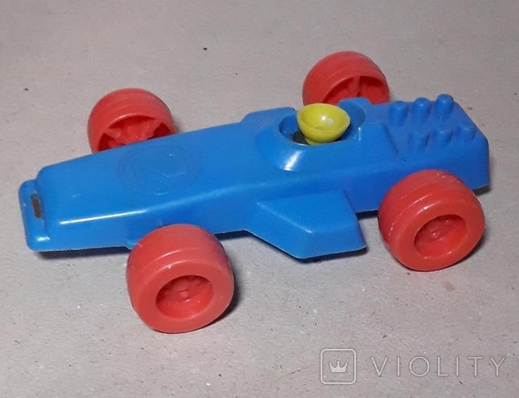 Машина гонка пластмасса СССР Клеймо,длина 15 см., фото №2
