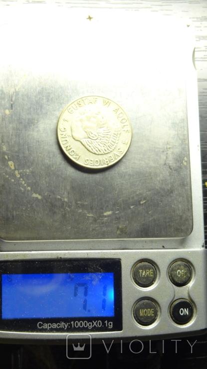 1 крона Швеція 1954 срібло, фото №4