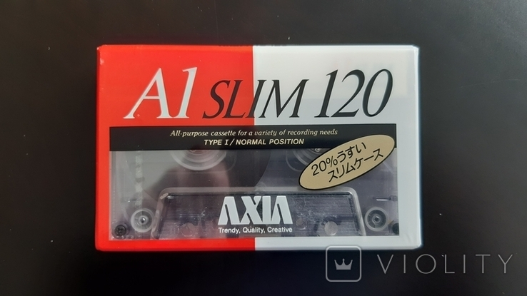 Касета Axia A1 Slim 120 (Release year: 1991), фото №2