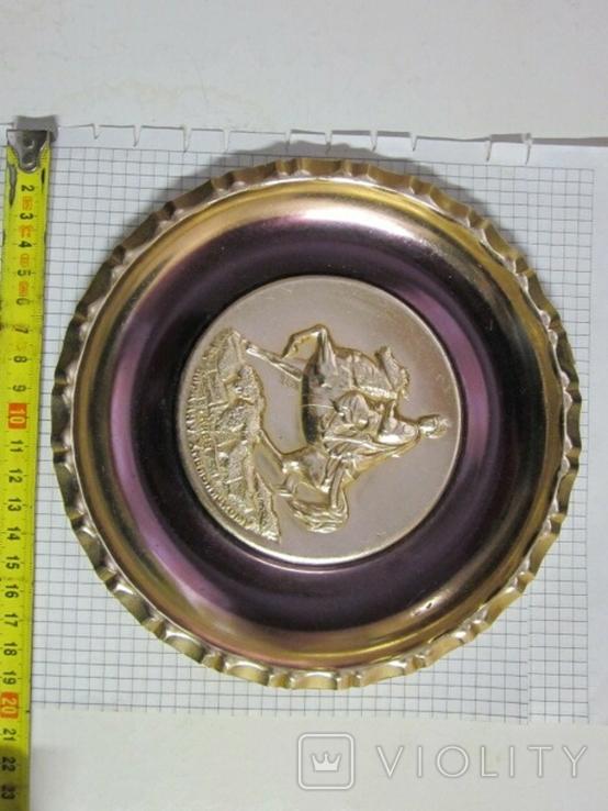 Настенная тарелка, Богдан Хмельницкий, памятник, Киев СССР№2, фото №2
