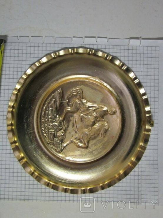 Настенная тарелка, Богдан Хмельницкий, памятник, Киев СССР№2, фото №3