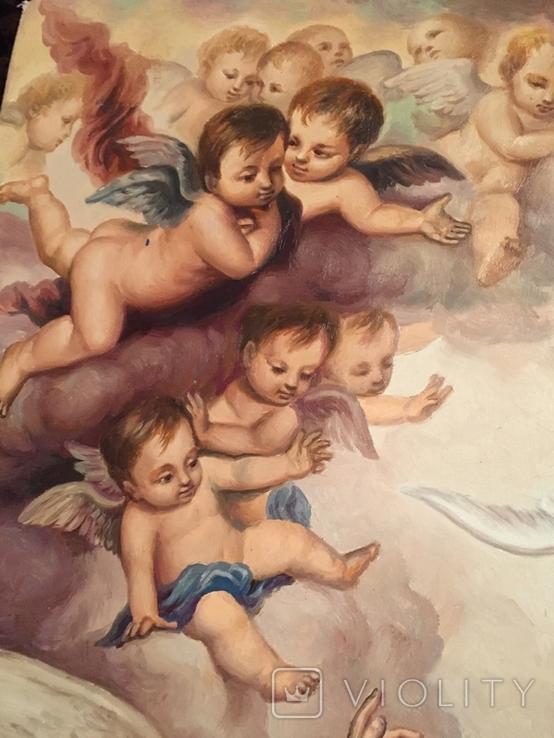 Икона Благовещение Пресвятой Богородицы Академическая живопись, фото №5